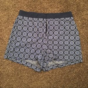 High-waisted Patterned Shorts